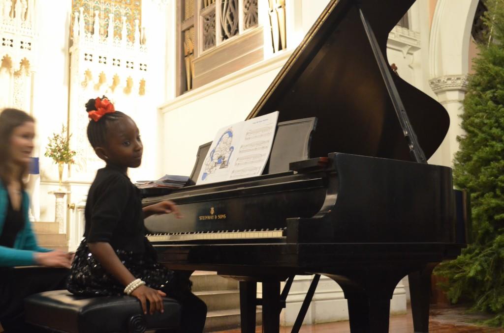 12.14.2012 piano recital at the Advent Lutheran Church, New York NY