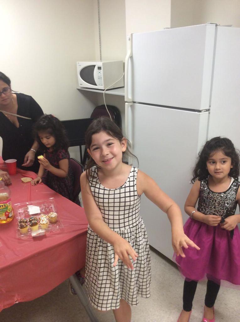 Enjoying cupcakes after the recital